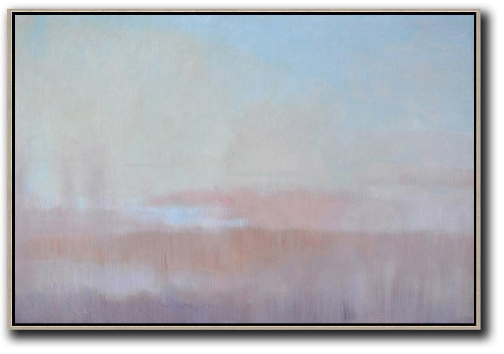 Horizontal Abstract Landscape Painting #LX26C