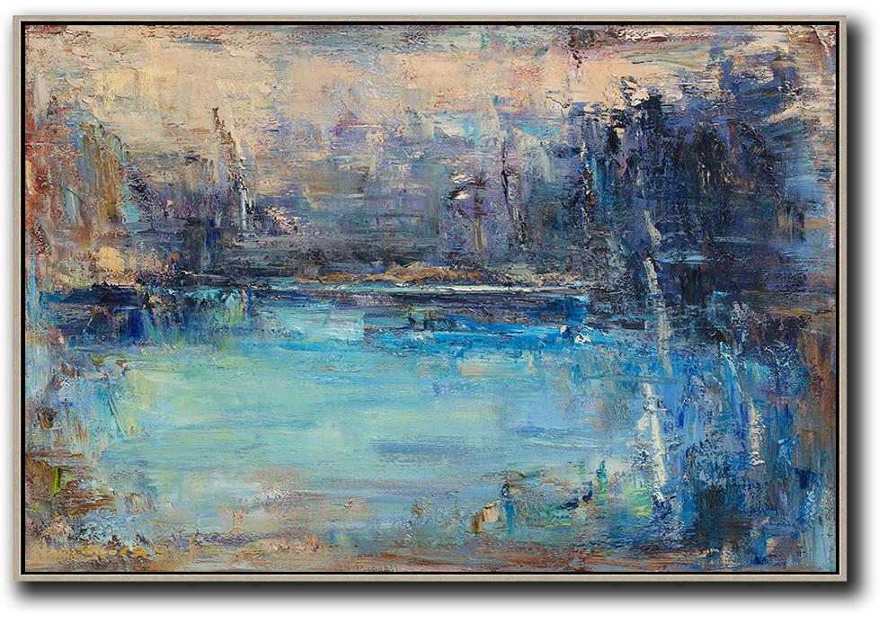 Horizontal Abstract Landscape Painting #LX67C