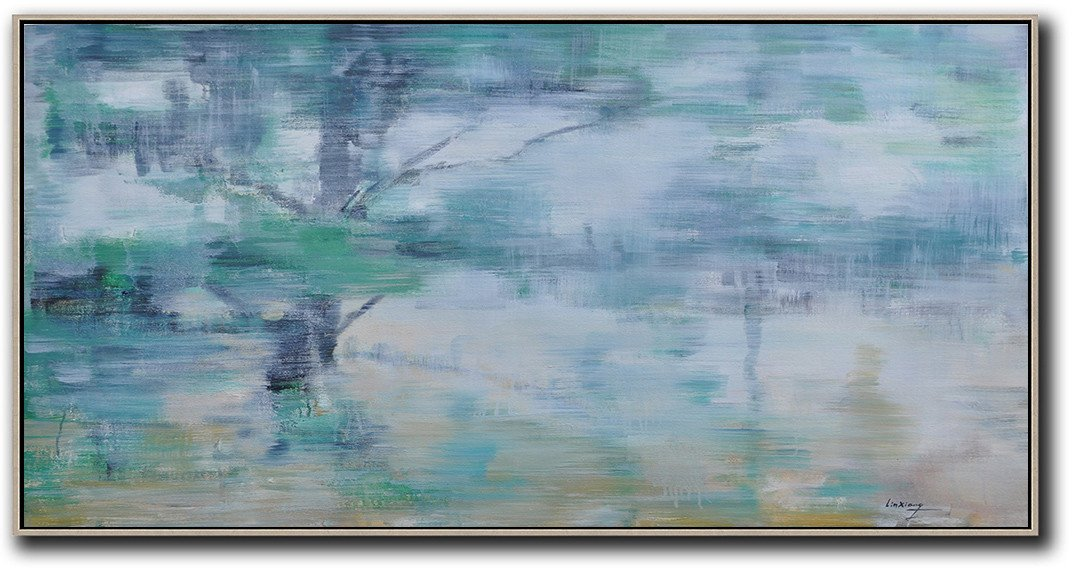 Panoramic Abstract Landscape Painting LX61D