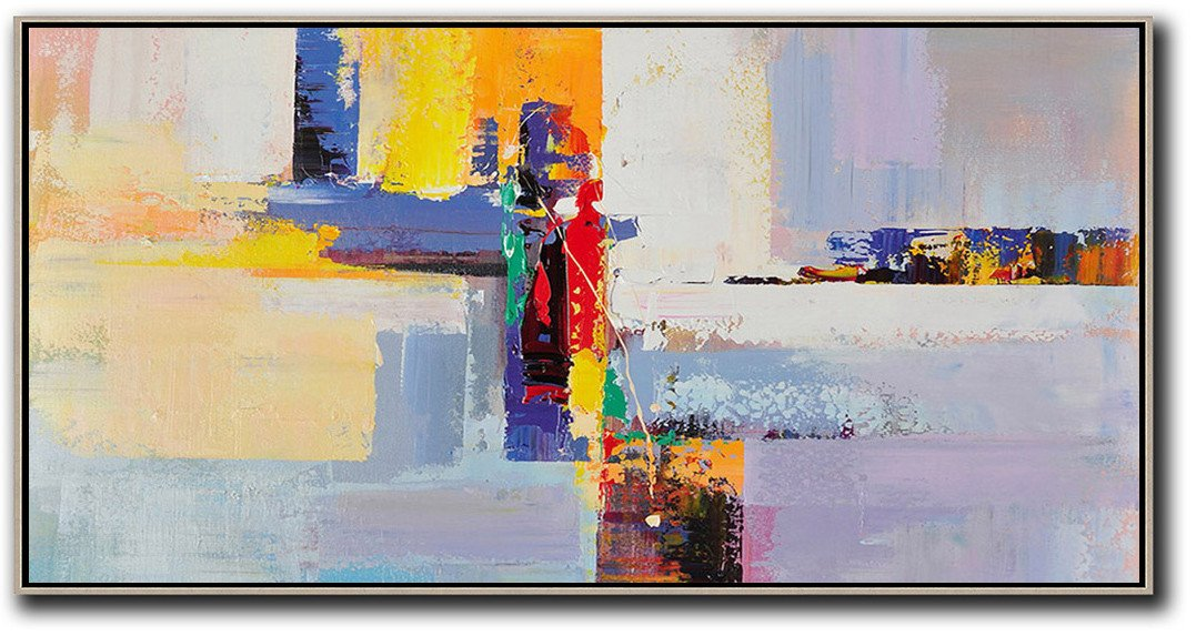 Panoramic Palette Knife Contemporary Art #L30D