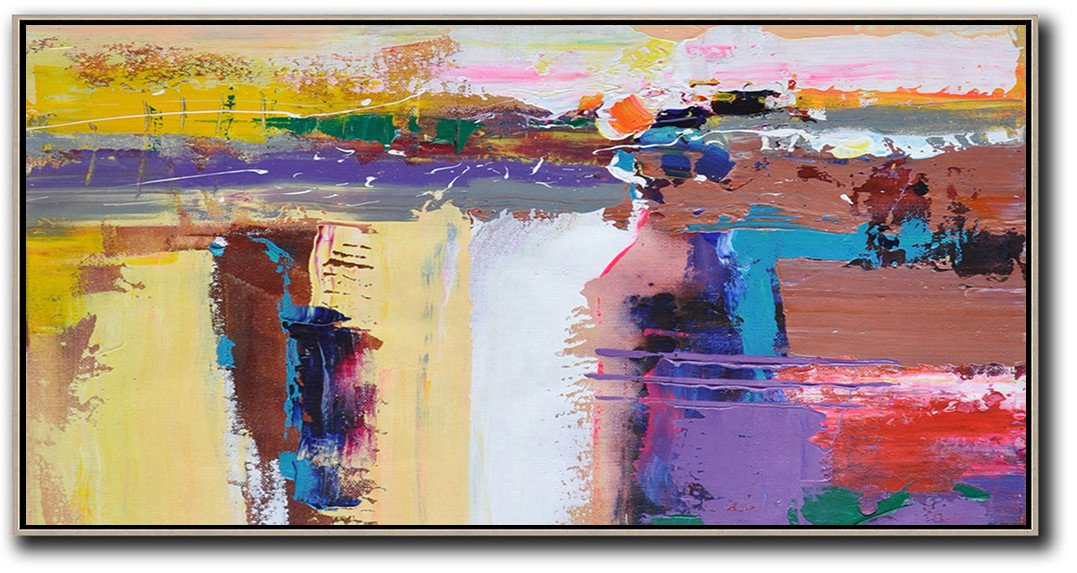 Panoramic Palette Knife Contemporary Art #L6D