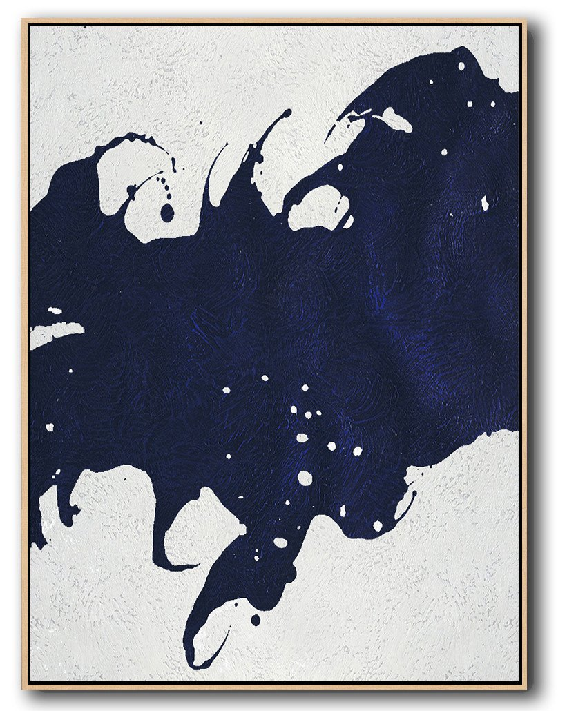 Navy Blue Minimal Art #NV55B