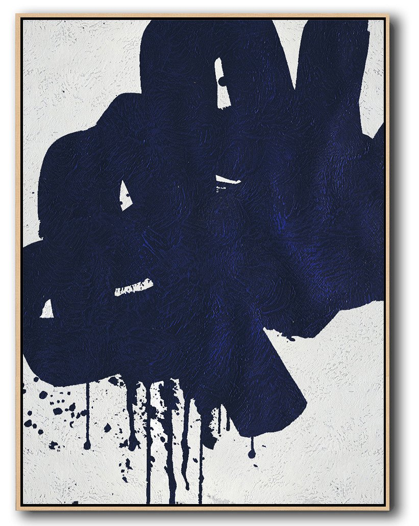 Navy Blue Minimal Art #NV62B
