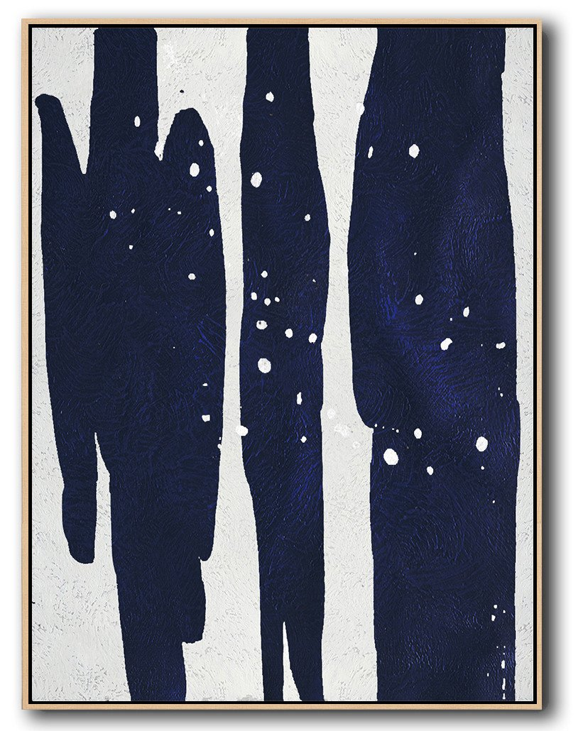 Navy Blue Minimal Art #NV63B