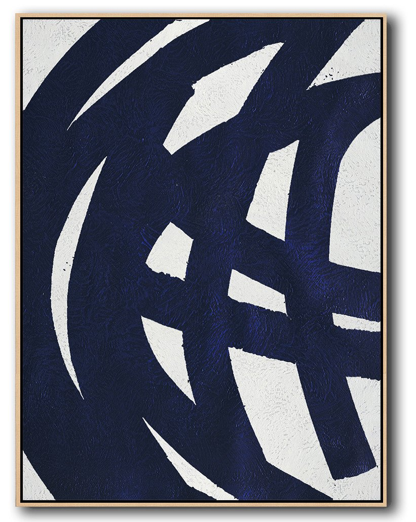 Navy Blue Minimal Art #NV65B