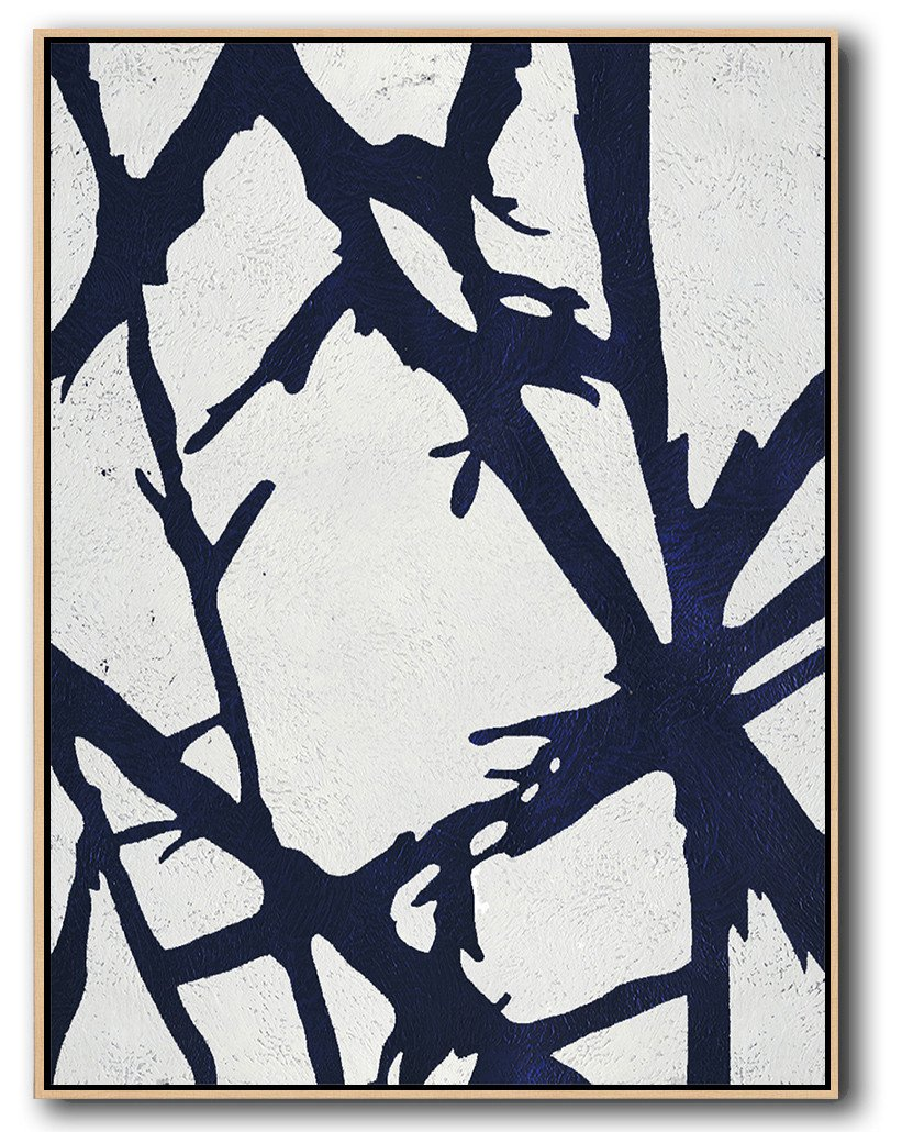 Navy Blue Minimalist Art #NV286B