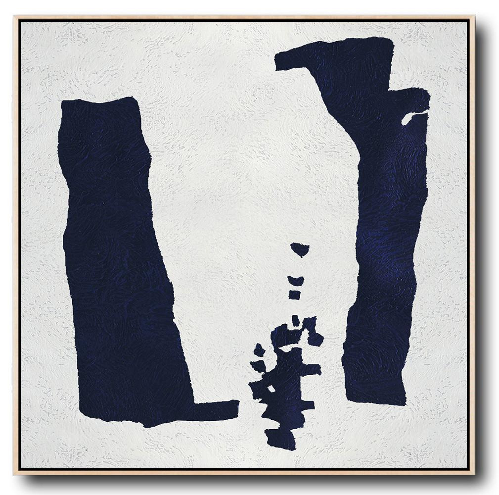 Navy Blue Minimalist Painting #NV131A