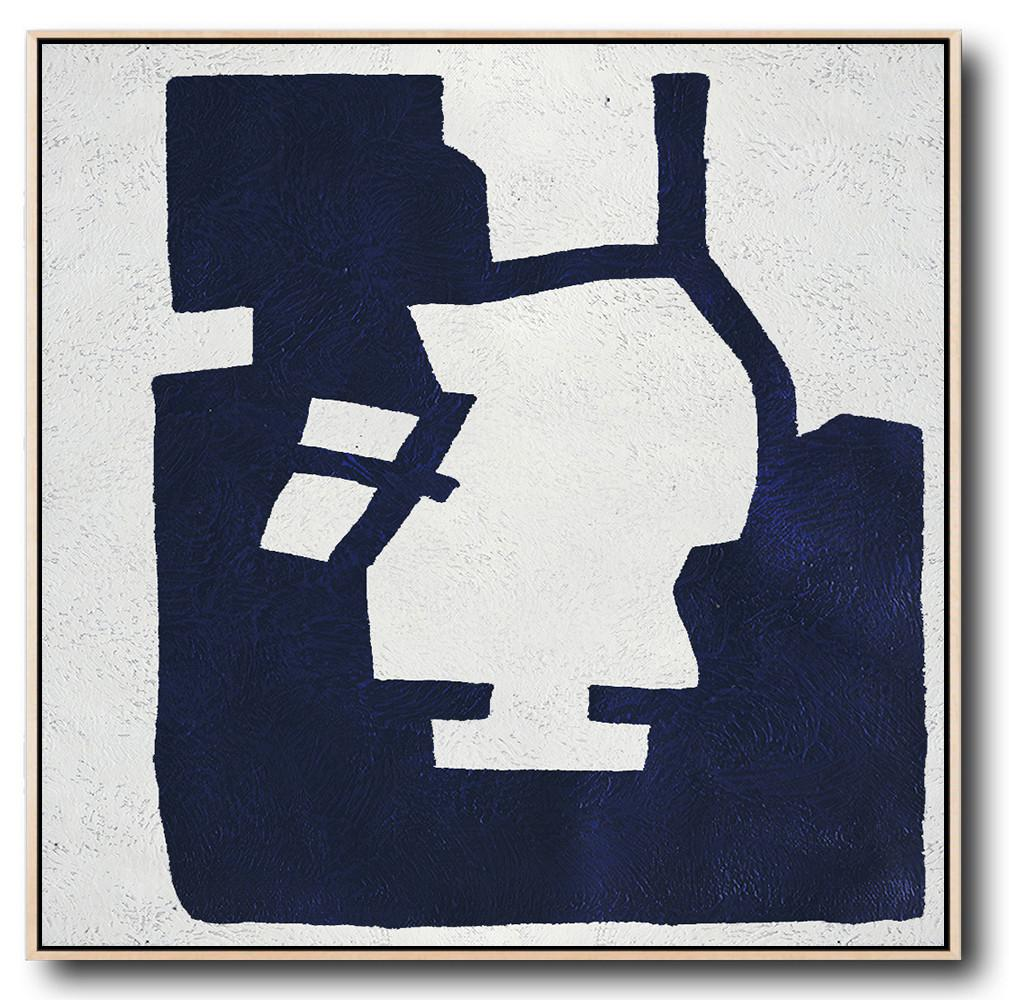 Navy Blue Minimalist Painting #NV132A