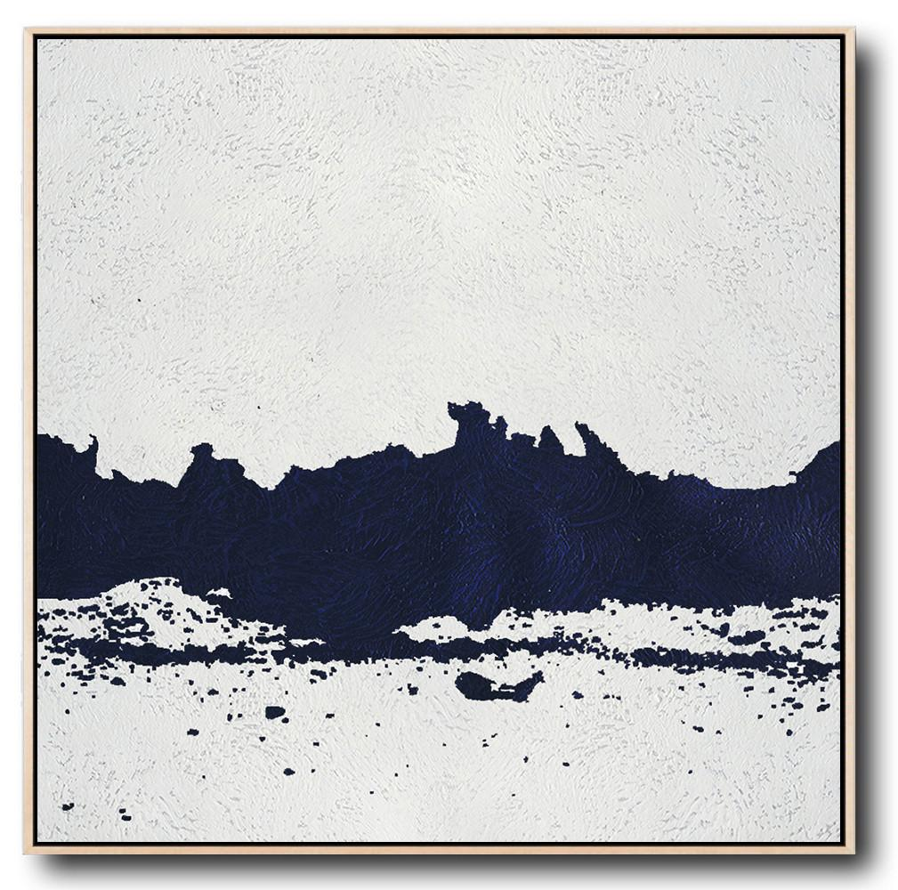 Navy Blue Minimalist Painting #NV142A