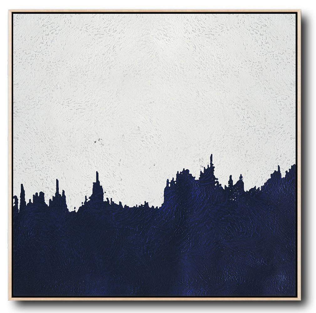 Navy Blue Minimalist Painting #NV144A