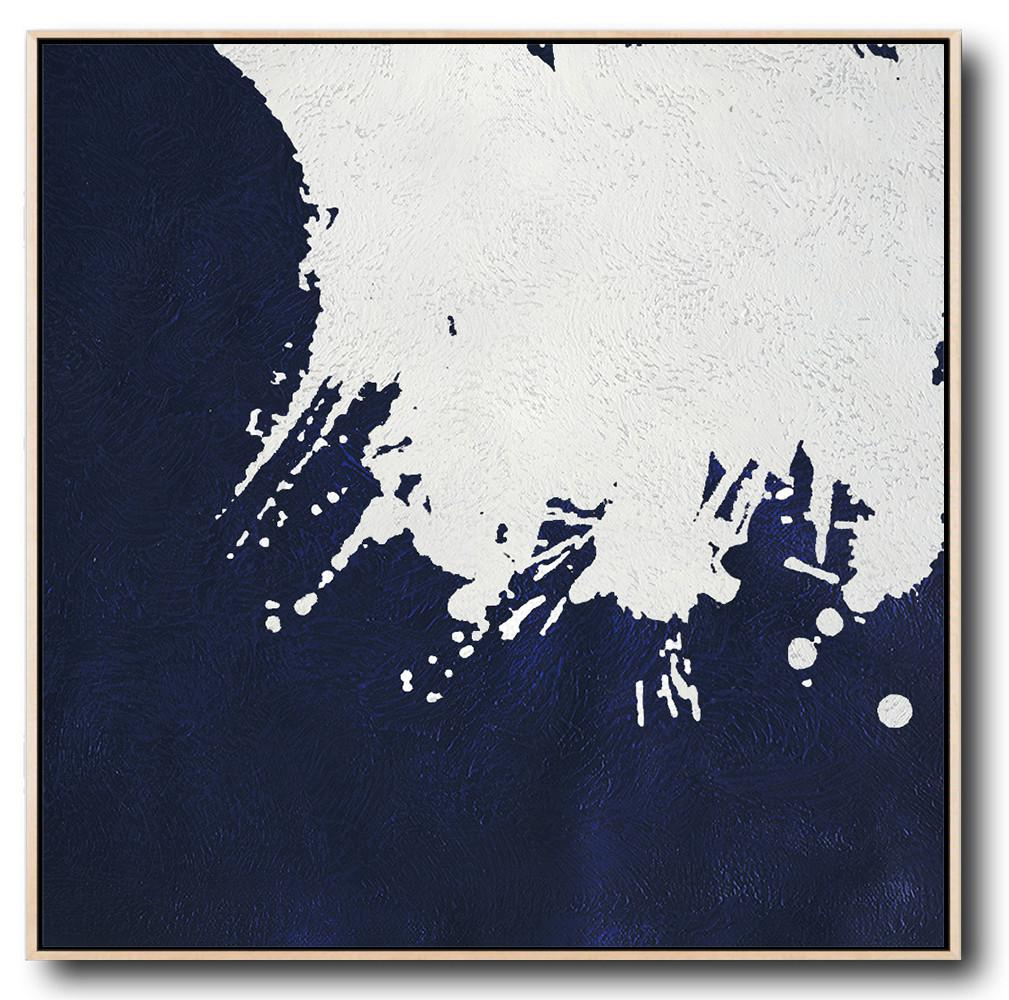 Navy Blue Minimalist Painting #NV146A