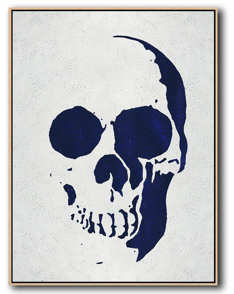 Navy Blue Skull Art #NV278B