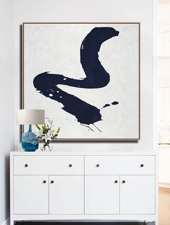 Navy and White Painting #NV93A