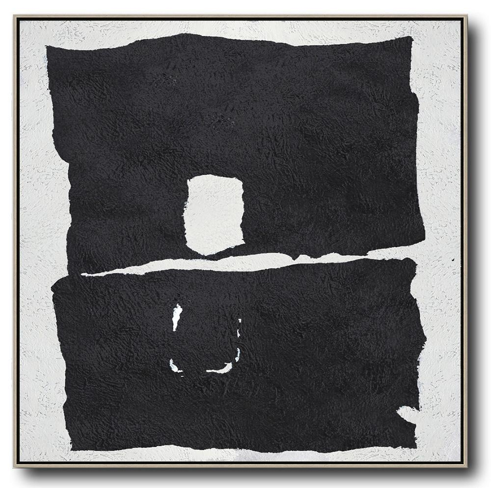 Minimal Black and White Painting #MN124A
