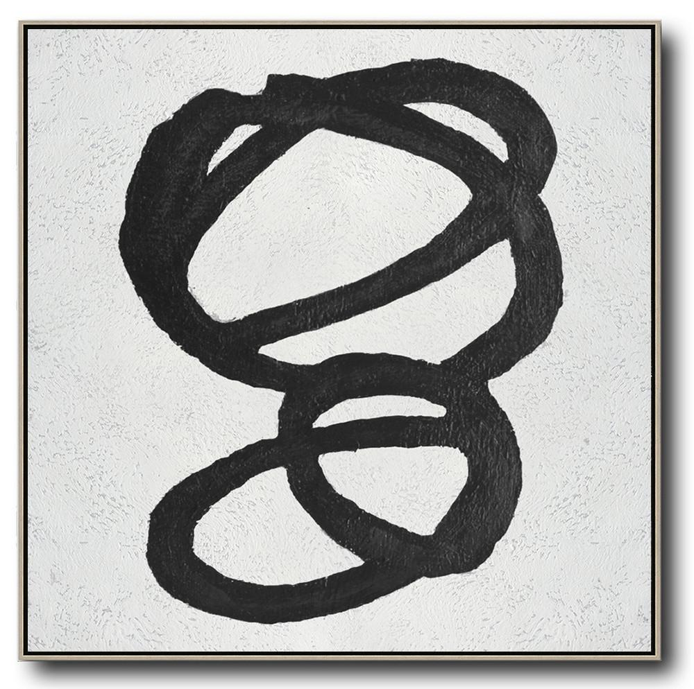 Minimal Black and White Painting #MN140A