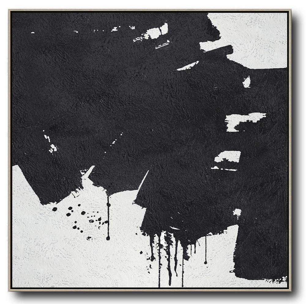 Minimal Black and White Painting #MN58A