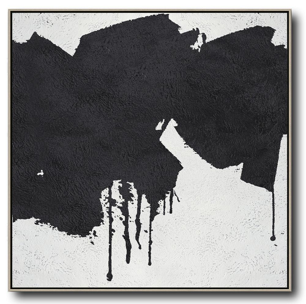Minimal Black and White Painting #MN67A