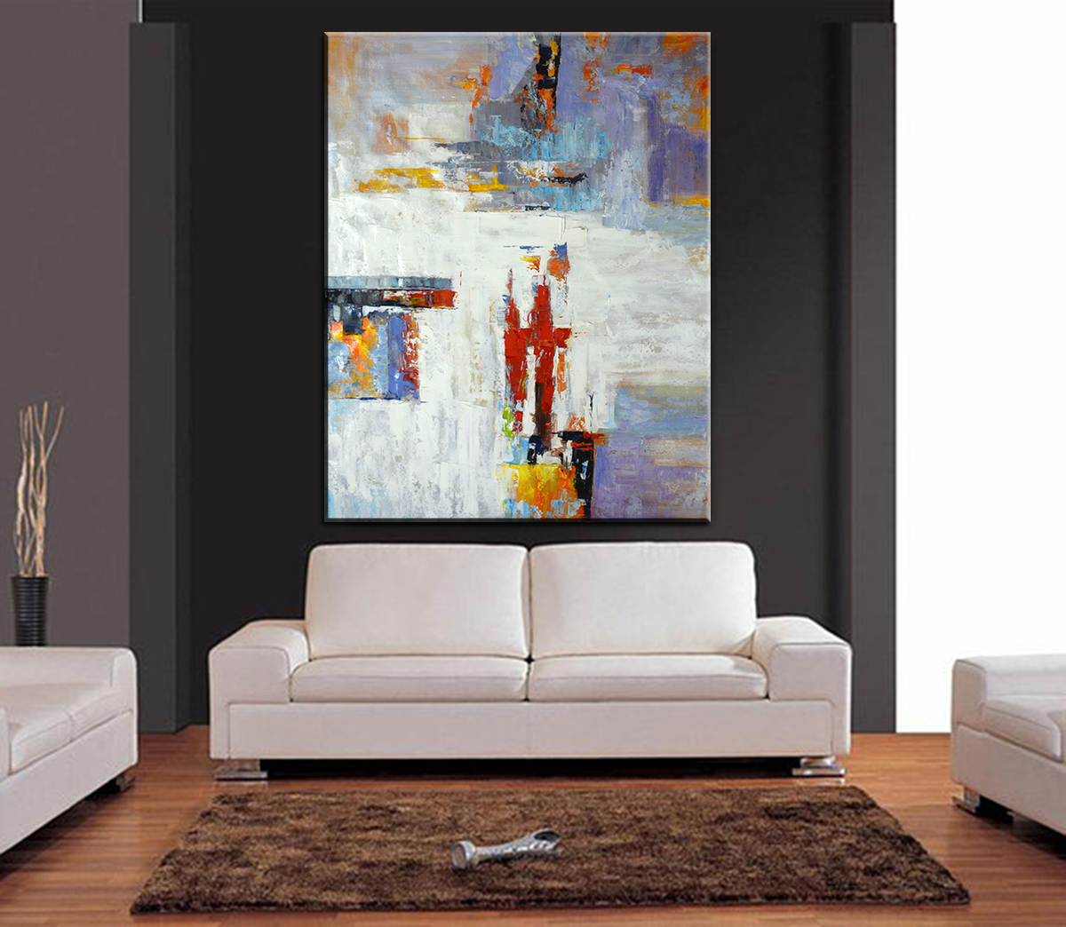 Hand-painting Abstract Oil Painting Extra Large Single Room