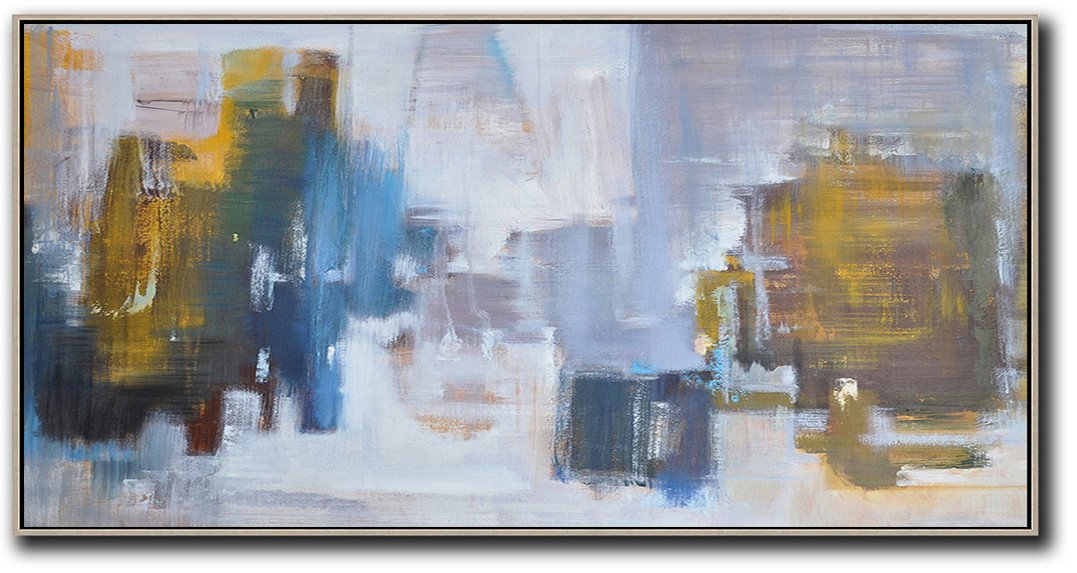 Panoramic Abstract Landscape Painting LX32D